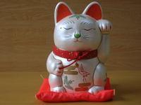 パール招き猫貯金箱