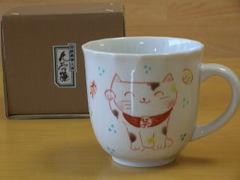 招き猫マグカップ