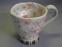 瀬戸焼 花の詩マグカップ
