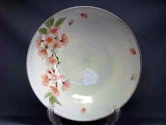 清水焼 陶あん 桜 8寸盛鉢