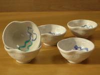青ひょうたん瓢型珍味鉢揃い