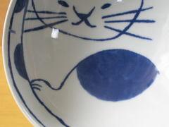 波佐見焼 neko鉢(大)ぶち