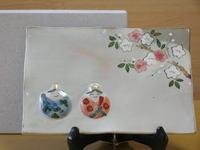 桃ひな飾り皿