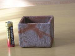 備前焼 玄明作 火だすき桝形小付け鉢(単品)
