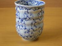 花弁紋手造り湯呑(大)