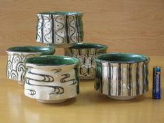 清水焼 陶化窯 おりべ小鉢揃い