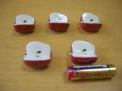 有田焼 晧洋窯 錦リンゴ箸置き揃い