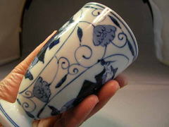有田焼 しん窯 唐草パイプ異人フリーカップ(中)・1客