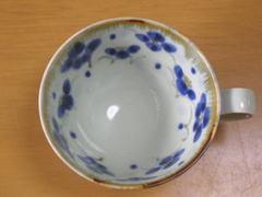 波佐見焼 長十郎窯 刷毛内小花碗皿