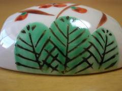 美濃焼 丸モ高木陶器 松竹梅小槌型珍味蓋物