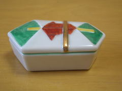 美濃焼 熨斗型珍味蓋物