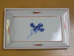 有田焼 親峯窯 かぶ絵焼き物皿揃い