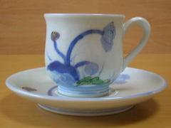 染錦けし紋碗皿