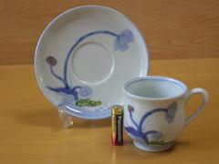有田焼 金善陶器 染錦けし紋碗皿