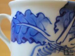 三川内焼 洸祥窯 かぶ絵マグカップ