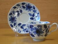 染花絵コーヒー碗皿