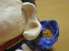 美濃焼 ひさみ窯 手造り福助人形(大)