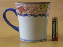 清水焼 陶遊窯 帯雲錦(赤)マグカップ