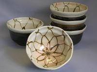 錆網紋小鉢揃い