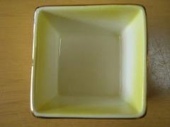 中国製 木製盆付き角珍味鉢