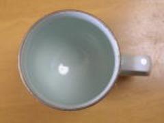有田焼 文山窯 プラチナ牡丹マグカップ