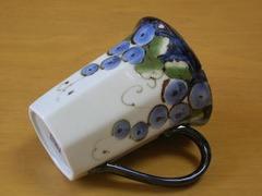波佐見焼 福峰窯 色彩ぶどうマグカップ(青)