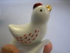 波佐見焼 林九郎窯 古伊万里ヒナ蓋付鶏 銚子瓶