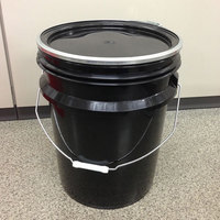 20Lプラスチック製オープンペール缶 黒
