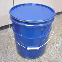 20L鉄製オープンペール缶(蓋・外レバーバンド付)ブルー