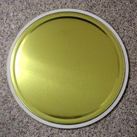 27L鉄製 【内面塗装:金ニス】 オープンペール缶 蓋