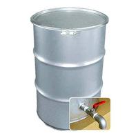 専用バルブ付き 200Lステンレス製オープンドラム缶