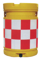 セフティドラム(クッションドラム)市松柄:蛍光ピンク/白 sk17p