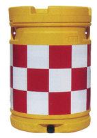セフティドラム(クッションドラム)市松柄:赤/白 sk16p