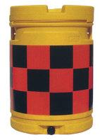セフティドラム(クッションドラム)市松柄:高輝度オレンジ/黒 sk15p
