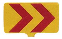 サインボード(黄地/赤矢印反射)ドラムジョイント付き sk20p