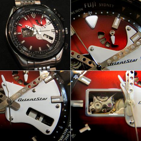 オリエント ORIENT オリエントスター レトロフューチャー ギターモデル ウッド 腕時計 機械式 オートマチック 自動巻  国内販売向け正規品WZ0191DA