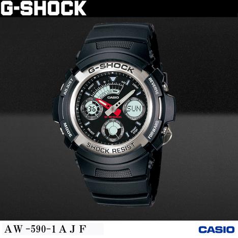 20%OFF G-SHOCK G-ショック CASIO カシオ AW-590-1AJF