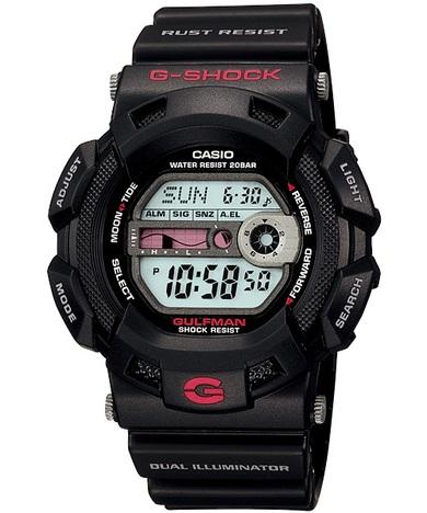 20%OFF G-SHOCK G-ショック ガルフマン ブラック 防錆構造 チタンパーツ タイドグラフ デジタル CASIO カシオ G-9100-1JF