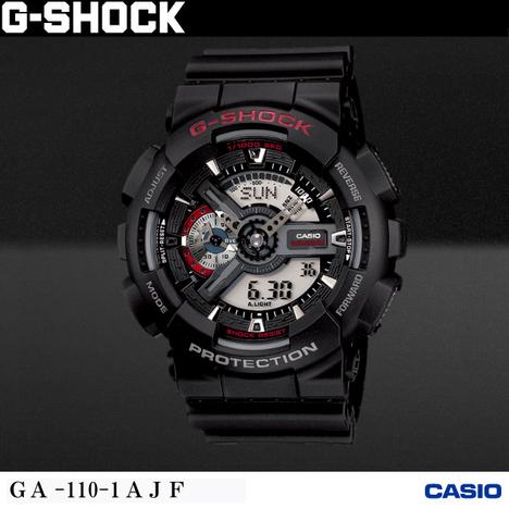 20%OFF G-SHOCK G-ショック CASIO カシオ GA-110-1AJF