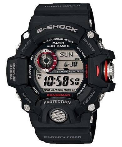 20%OFF G-SHOCK G-ショック レンジマン ブラック 電波ソーラー 高度方位気圧/温度計測 カーボンインサートバンド CASIO カシオ GW-9400J-1JF