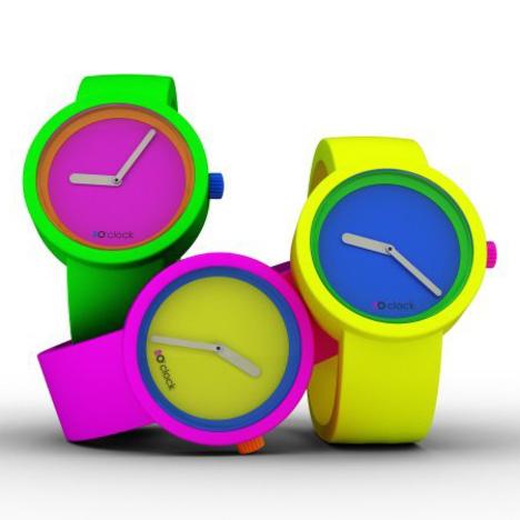 在庫処分 30%OFF オクロック Oclock 80's 腕時計 シリコンラバーバンド