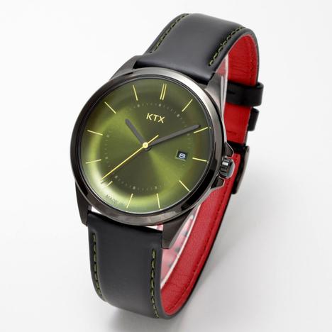 KTX ケーティーエックス バブルスーパースリム 腕時計 アナログ クォーツ 緑 グリーン文字盤 KX101-06