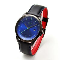【KTX ケーティーエックス】バブルスーパースリム KX101-08 / 腕時計(アナログ・クォーツ・青、ブルー文字盤)