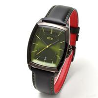 【KTX ケーティーエックス】バブルスーパースリム KX102-07 / 腕時計(アナログ・クォーツ・緑、グリーン文字盤)