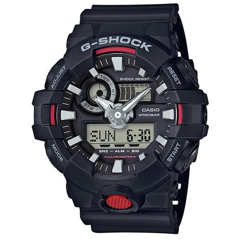 20%OFF G-SHOCK G-ショック GA700シリーズ ブラック×レッド CASIO カシオ GA-700-1AJF
