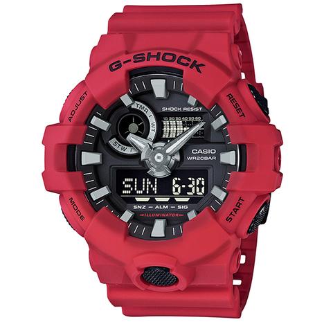 G-SHOCK - G-ショック 20%OFF GA-700シリーズ レッド  CASIO カシオ GA-700-4AJF