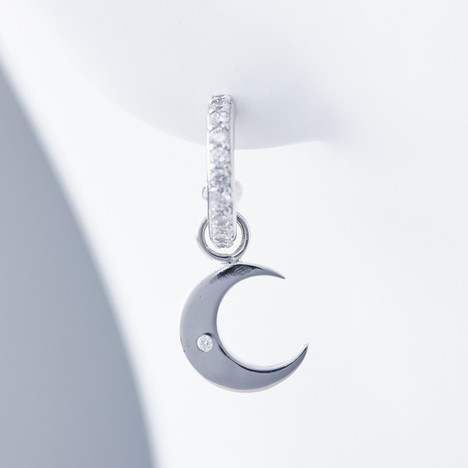 クレセントルナ Crescent Luna LUNA PIERCE ルナ ピアス 三日月モチーフ ジルコニア シルバー CLE001-SV
