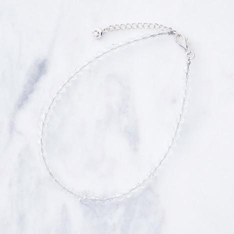 クレセントルナ Crescent Luna CRYSTAL GLASS ANKLET クロスタル グラス アンクレット クリア CLB002-CL