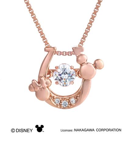 クロスフォーニューヨーク Crossfor NY ダンシングストーン ディズニーコレクション Disney 1000本限定 ホースシュー ペンダント ピンクゴールドコーティング NDP-002P