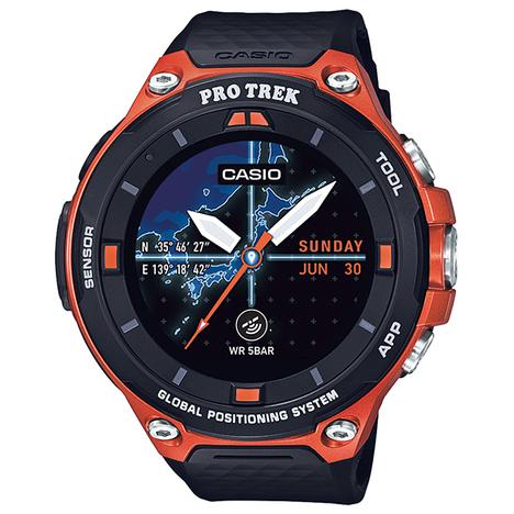 10%OFF プロトレック スマート PRO TREK Smart カシオ CASIO デジアナ 登山 腕時計 スマートウォッチ GPS フルカラー地図表示 WSD-F20-RG